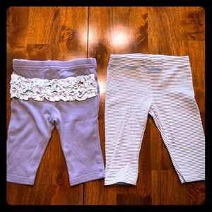 2 Pairs Baby Girl Leggings